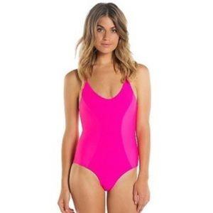 Tori Praver hot pink one piece